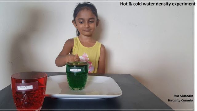 Hot & Cold Water Density Experiment By 6 Years Old Eva Maredia