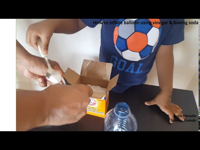 How To Inflate Balloon Using Vinegar And Baking Soda By 3 Years Old Aydin Maredia