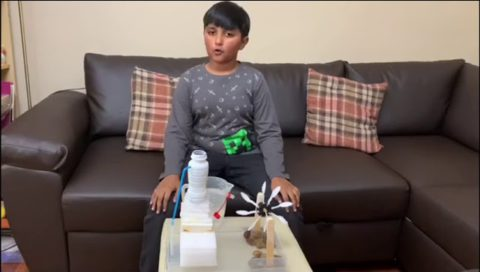 Aliyan's Water Wheel STEM Project