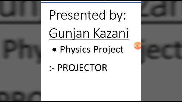 Homemade Projector - Science Project.