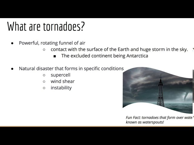 Tornadoes And Climate Change Presentation