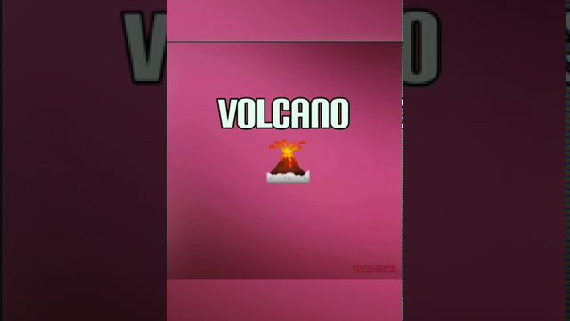 Science Experiment Volcano Eruption