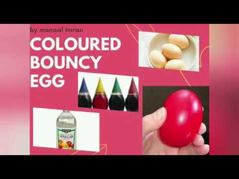 Coloured Egg Bouncy Experiment | By Manaal Imran