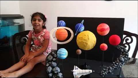 Solar System Diorama By Alina (Age 5)